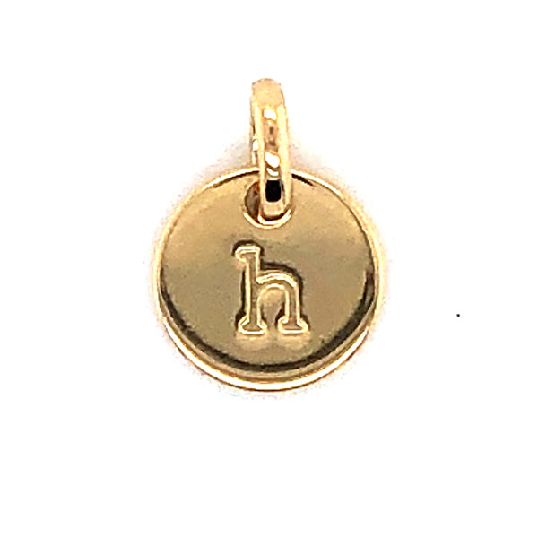 Mojo Yellow Gold Plated Initial H Charm