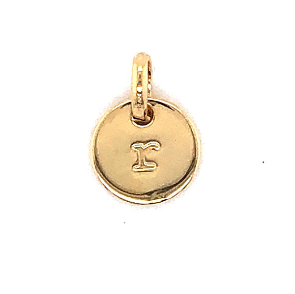 Mojo Yellow Gold Plated Initial R Charm