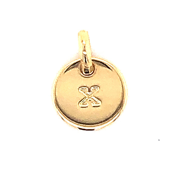 Mojo Yellow Gold Plated Initial X Charm