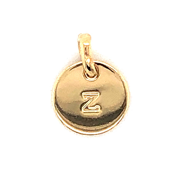 Mojo Yellow Gold Plated Initial Z Charm