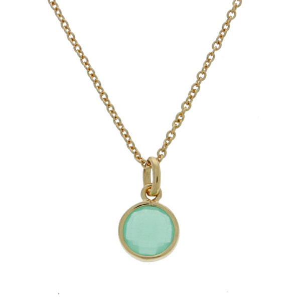 Mojo Gold Plated Faceted Green Round Crystal Charm