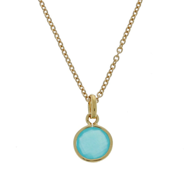 Mojo Gold Plated Faceted Blue Round Crystal Charm