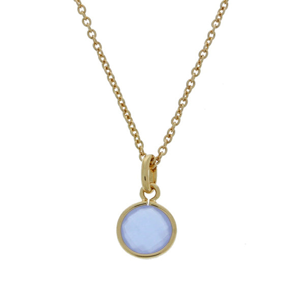 Gold Plated Faceted Lavender Round Crystal Charm