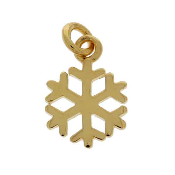 Mojo Yellow Gold Plated Small Snowflake Charm