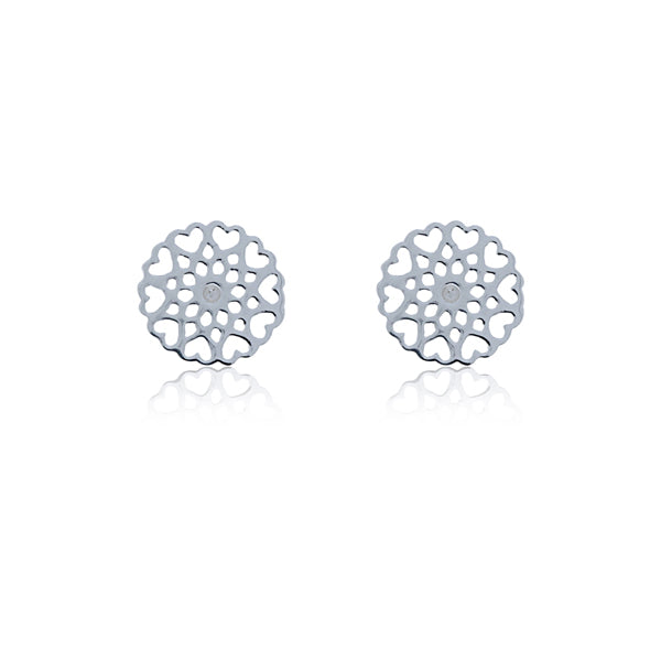 Silver Filigree Stud Earrings
