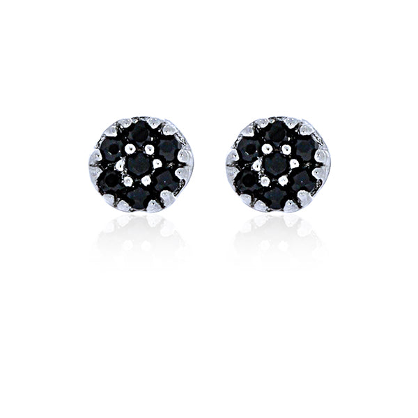Black Rhodium Plated Small CZ Stud Earrings