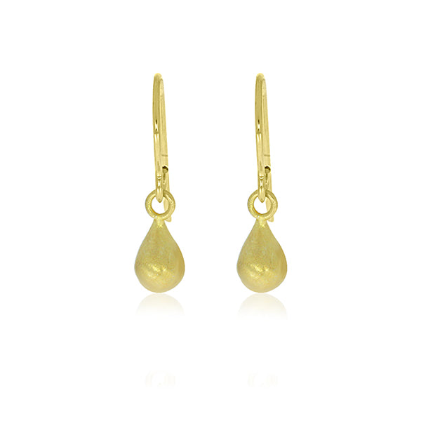Yellow Gold Plated Small Teardrop Earrings