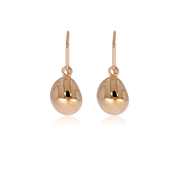 Rose Gold Plated Bubble Drop Earrings