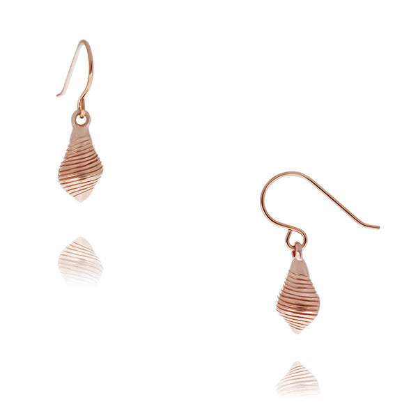 Rose Gold Plated Conch Shell Earrings