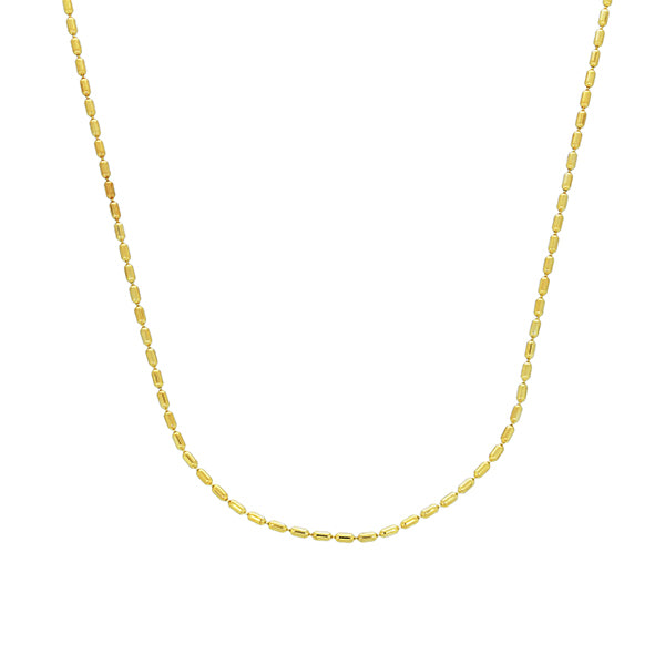 Mojo Yellow Gold Plated Bubble Link Chain - 40Cm