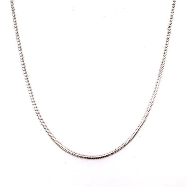 Silver 2mm Snake Chain 50cm