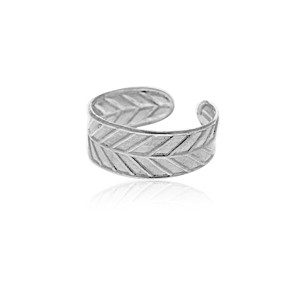 Sterling Silver Toe Ring - Leaf