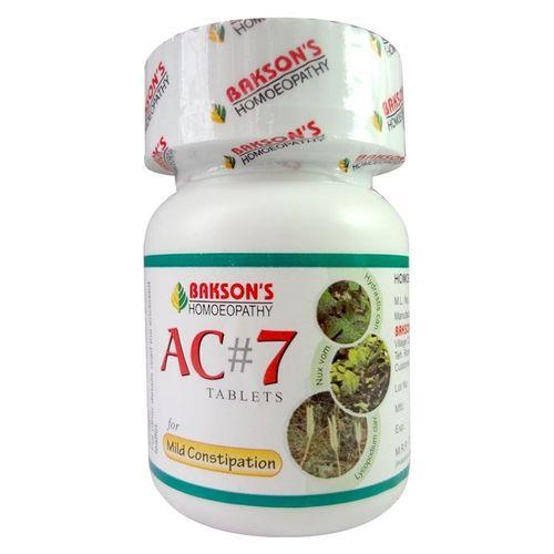 Baksons  AC7 Tablets -homeopathic laxative