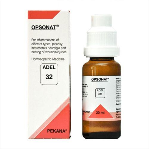 Adel 32 Opsonat drops for Body Inflammation, Pleurisy, Intercostals Neuralgia, Healing of Wounds/Injuries