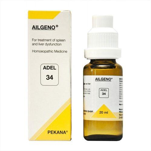 Adel 34 Ailgeno drops for treatment of Spleen & Liver Dysfunction