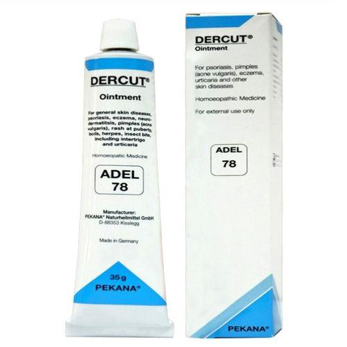 Adel 78 Dercut ointment for Eczema, Psoriasis, Urticaria, Boils, Skin Infections