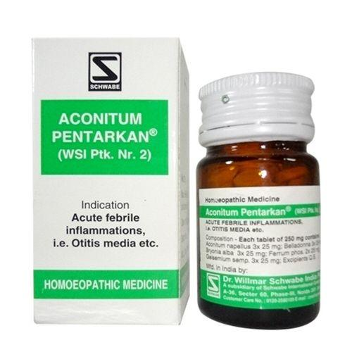 Schwabe Aconitum Pentarkan tablets for Cold, Otitis Media, Headache