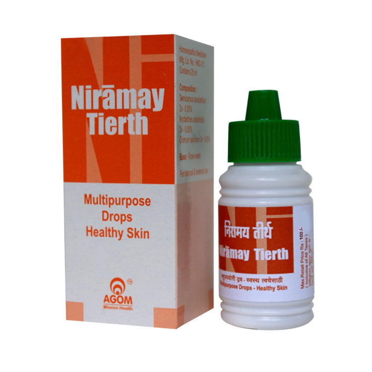 Agom Niramaya Tirth Herbal Multipurpose Drops for Healthy Skin with Bhilwa, Parijaat, Tulsi