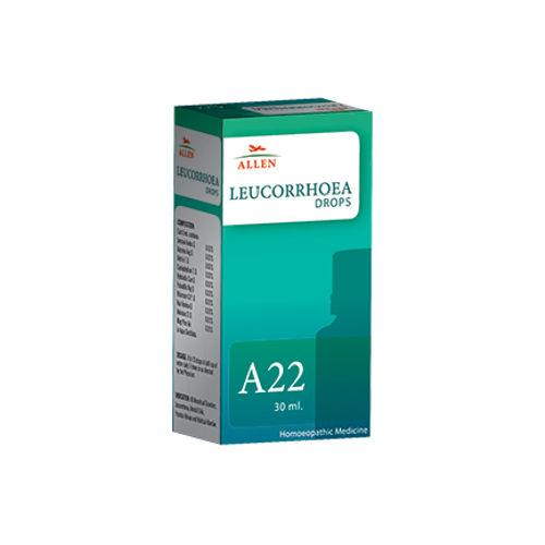 Allen A22 Leucorrhoea Drops - Homeopathic medicine for Menstrual Disorders