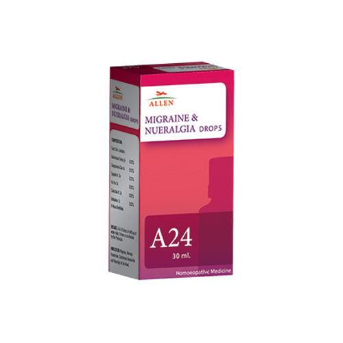 Allen A24 Homeopathy Drops for Migraine and Nueralgia