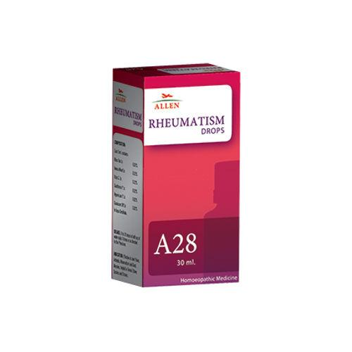 Allen A28 Rheumatism Drops for Rheumatic Ailments