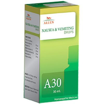 Allen A30 Homeopathy Nausea and Vomiting Drops