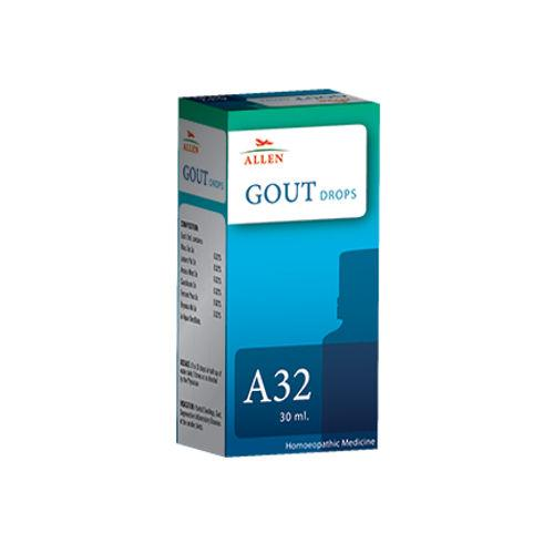 Allen A32 Homeopathy Drops for Gout (too much uric acid in the blood)