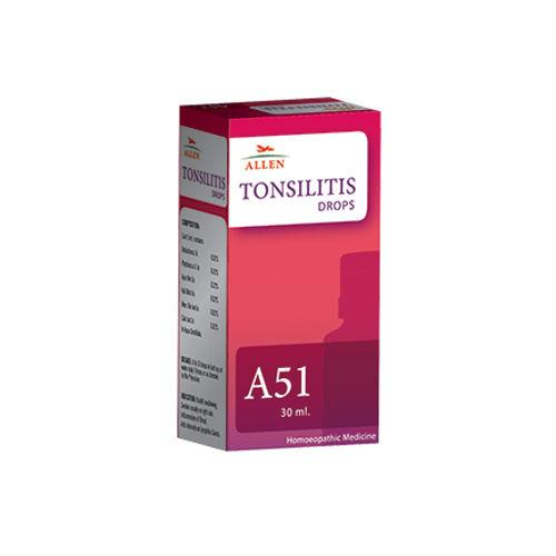 Allen A51 Tonsilitis Drops for Treatment of Tonsils