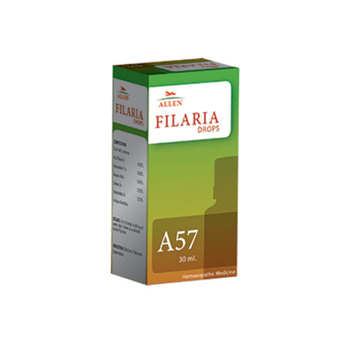 Allen A57 Filaria Drops - Homeopathic medicine for Filariasis (or Philariasis)