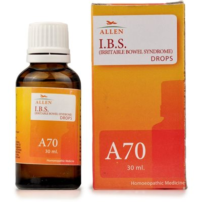 Allen A70, Homeopathic Irritable Bowel Syndrome (IBS) Drops