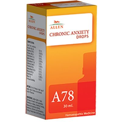Allen A78, Homeopathic Drops for Chronic Anxiety