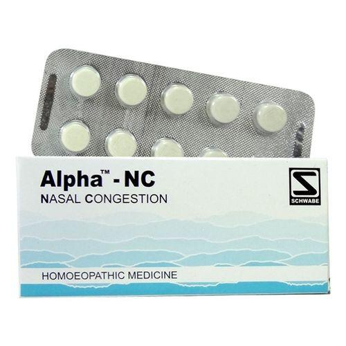 Schwabe Alpha NC Tablets for Nasal congestion (nose block)