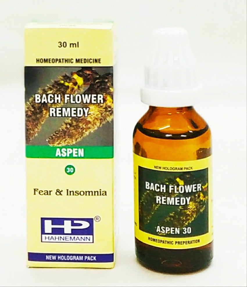 Bach flower aspen for fear, worries, unknown fears.