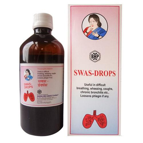 B H P Swas Drops for Bronchitis Asthma