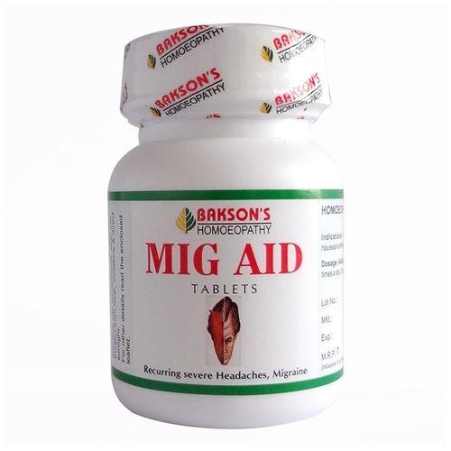 Bakson Mig Aid Tablets for Recurring Severe Headache and Migraine