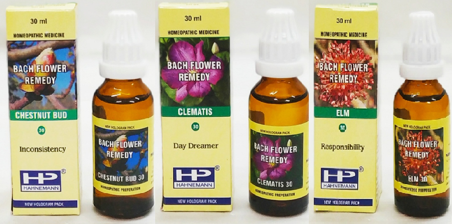 BFR Mix Chestnut Bud, Elm, Clematis Hyperactivity & Concentration Problems