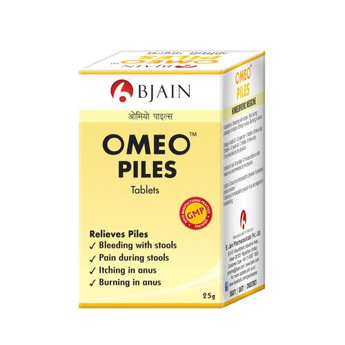 BJain Omeo Piles Tablets for Bleeding, Itching, Burning of Hemorrhoids