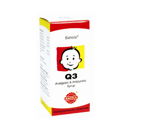 Bahola Q3 Syrup for fever and coryza at 20% Discount