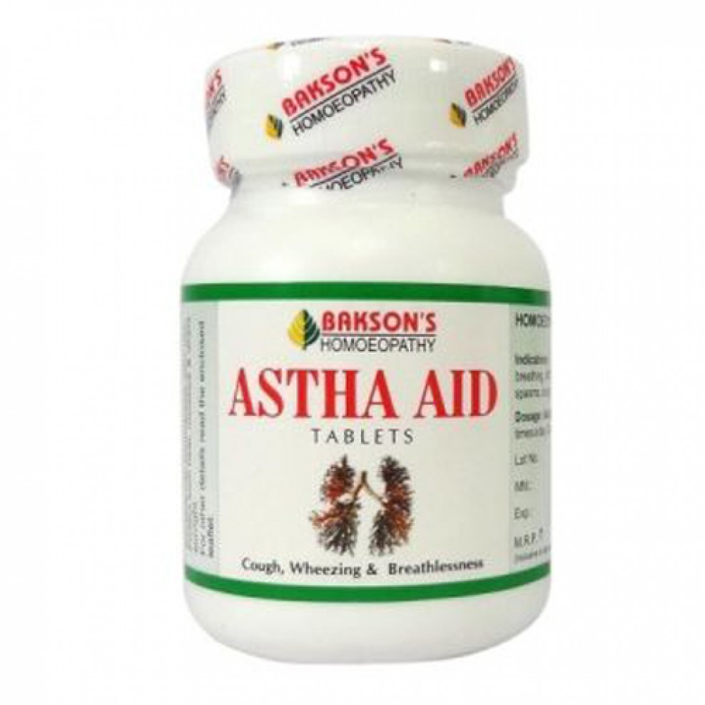 Baksons Astha Aid Tablets for Cough, Wheezing and Breathlessness