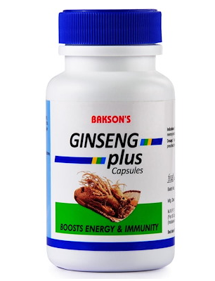 Bakson Ginseng Plus Capsules - Boosts energy & immunity