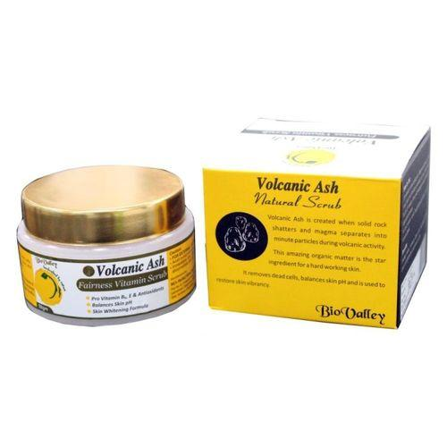 Bio Valley Volcanic Ash Fairness Vitamin Scrub (Skin Whitening Formula, clears skin,Unclogs pores,remove dead cells)