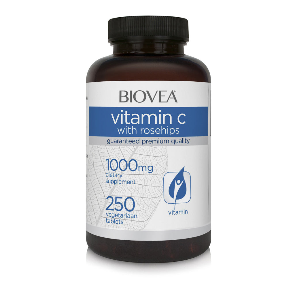 Biovea Vitamin C with rosehips 1000mg 250 Tablets