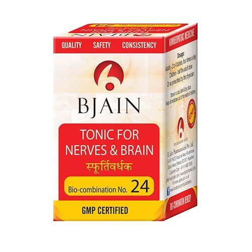 Bjain Biocombination No 24 Tablets - Tonic for Nerves and Brain