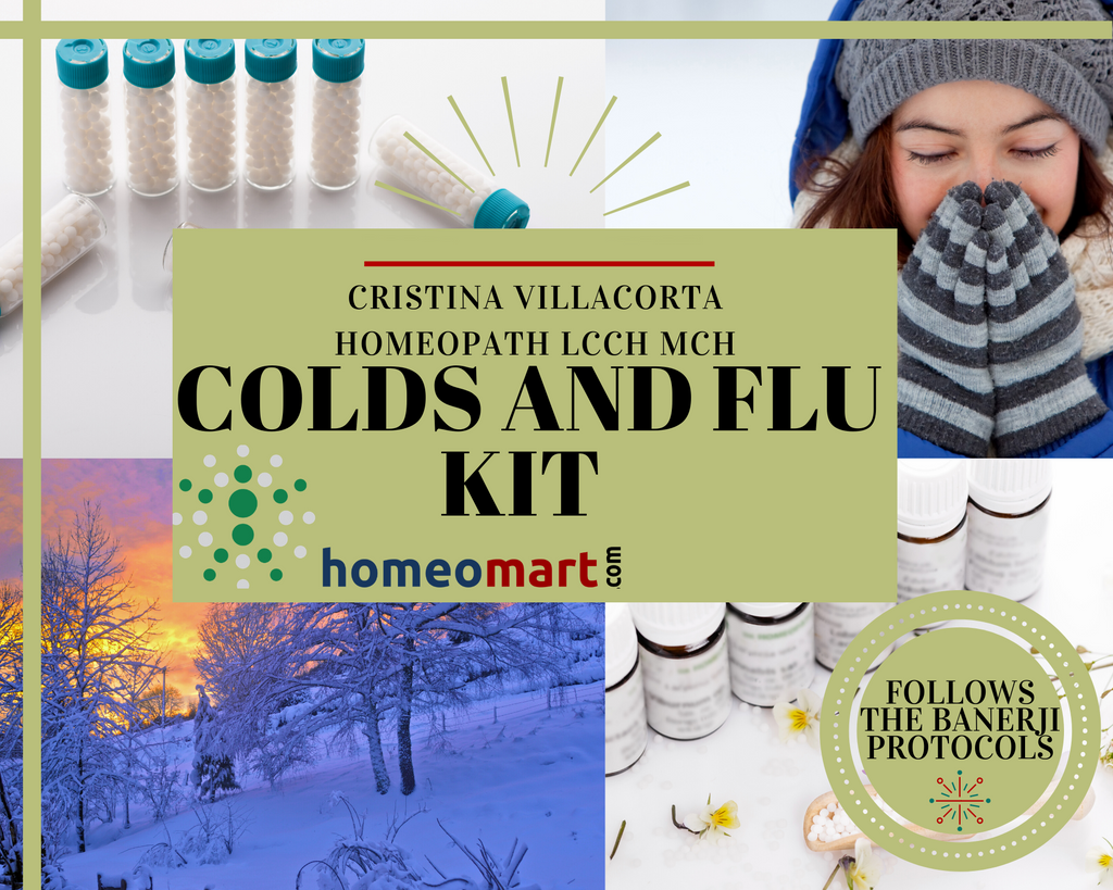 Colds and Flu Kit by Cristina Vilacorta Homeopath