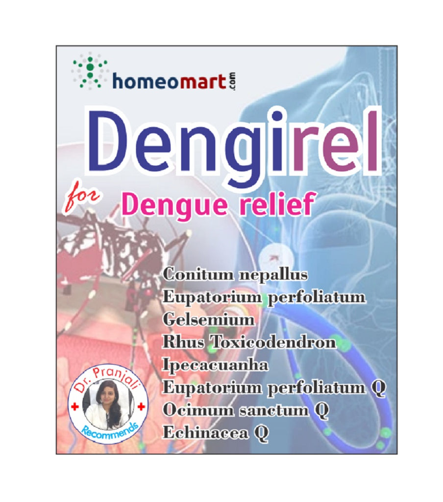 Dengirel homeopathy medicine kit for dengue fever