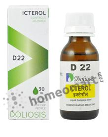 Doliosis D22 Icterol for Jaundice, fatty liver