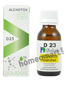 Doliosis D23 Alchotox for bad effects of chronic alcoholism