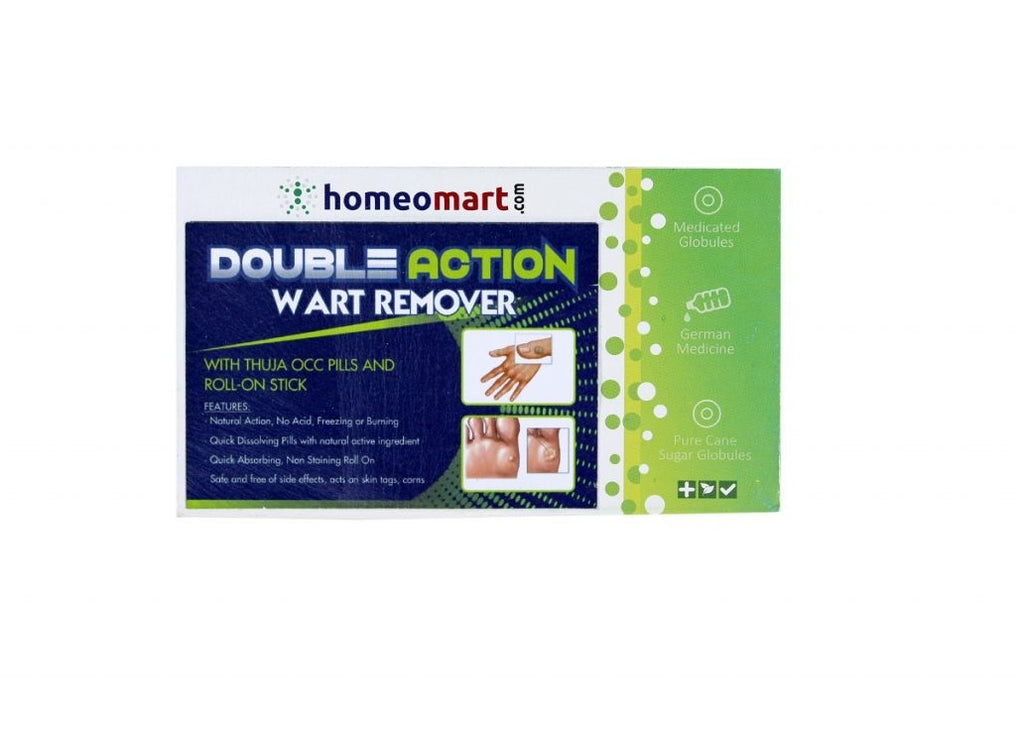 Double Action Wart Remover Mini Kit with Thuja Pills & Roll-on