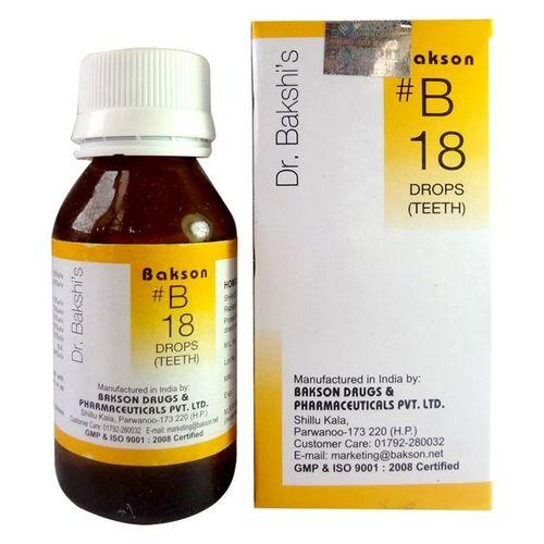 Dr.Bakshi B18 Teeth drops for delayed teething, Pyorrhoea