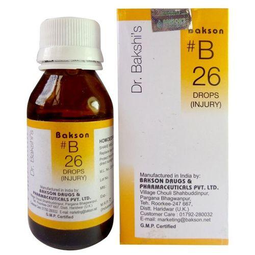 Dr.Bakshi B26 Injury Drops for Sprains, Wounds, Open Ulcers, Sepsis